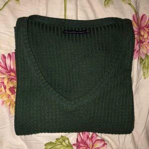 Dark Green Abercrombie & Fitch V-Neck Sweater 💚